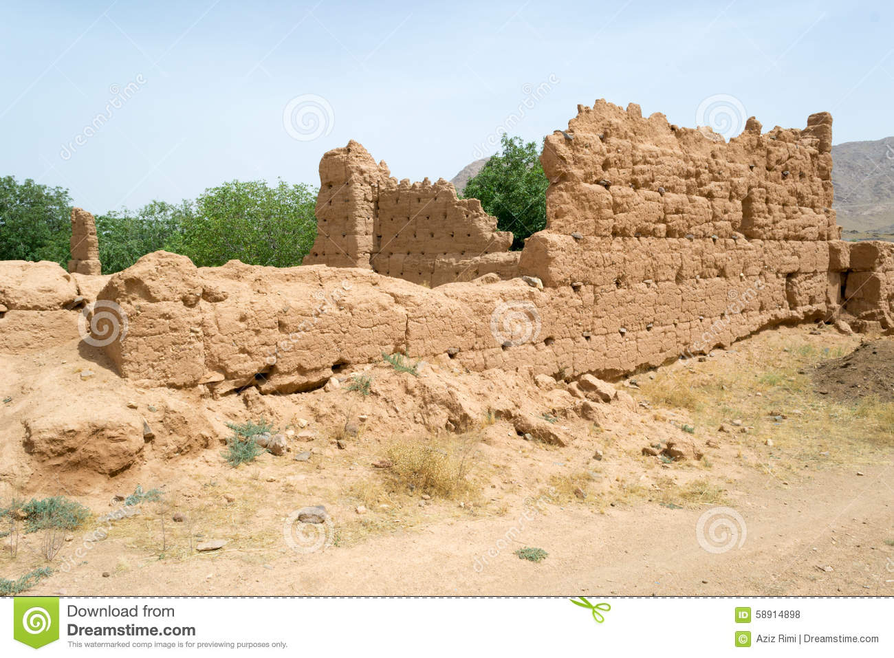 Ancient historical ruined building in south morocco stock for What is soil made out of