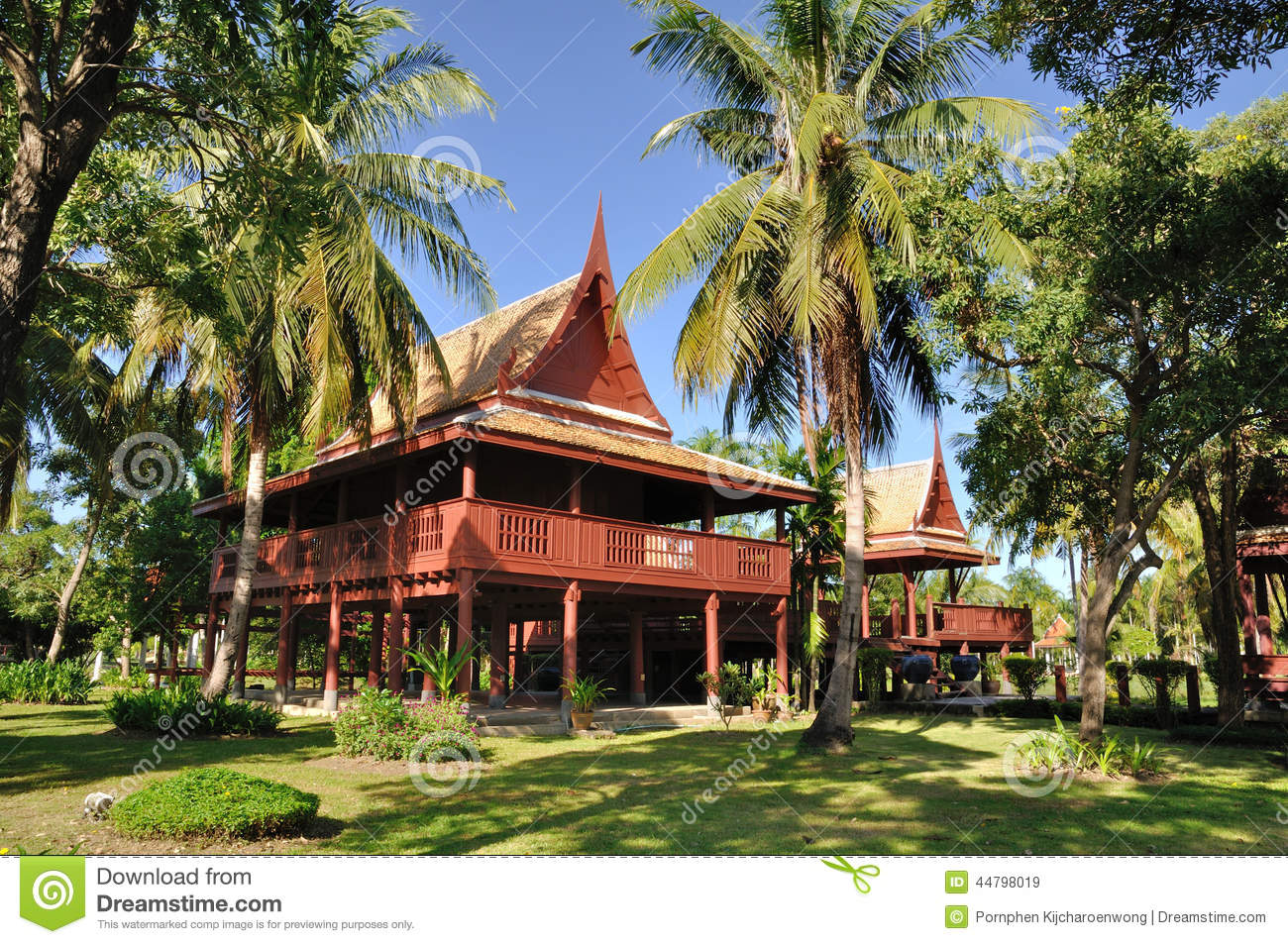 Ancient Houses Thailand Stock Photo Image 44798019