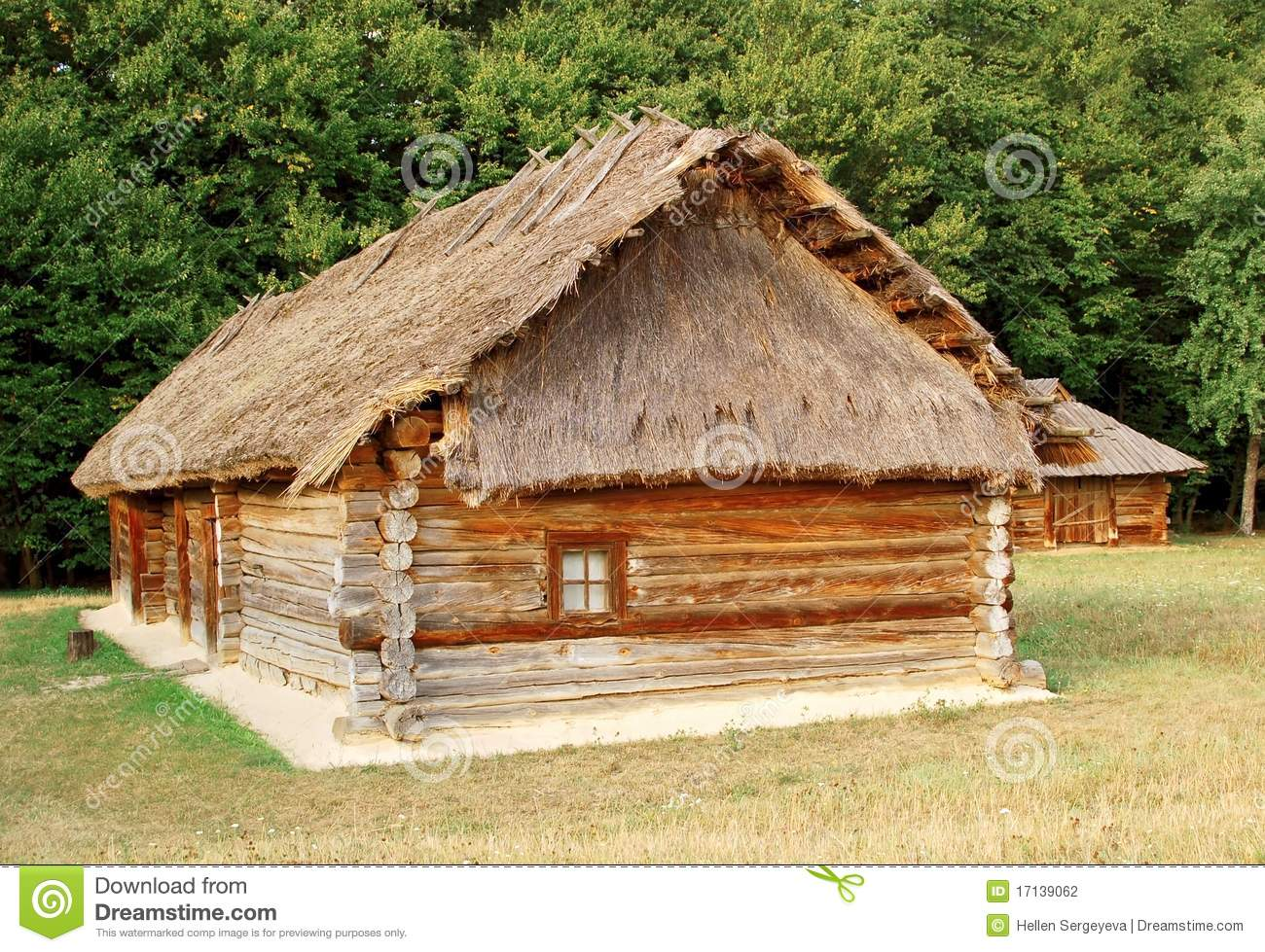 Ancient Hut With A Straw Roof Stock Photo Image Of