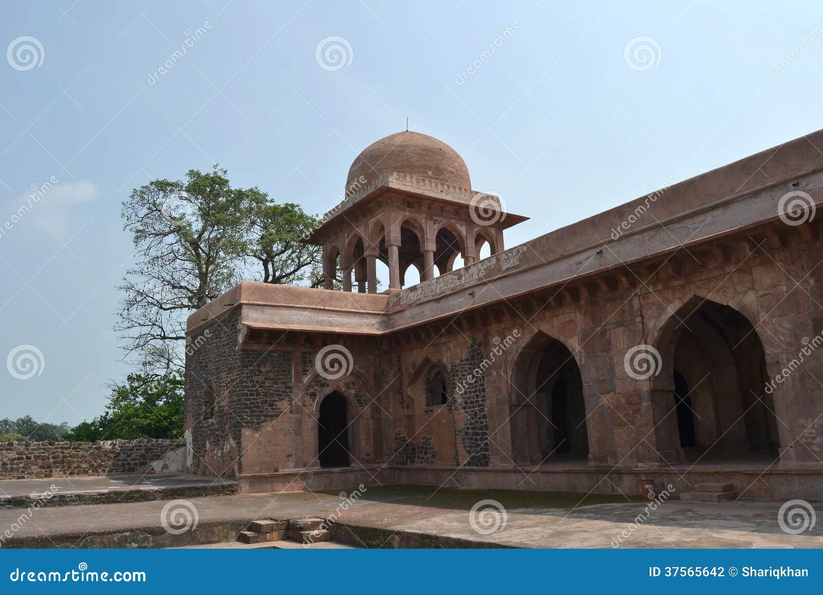 Ancient Indian Architecture Baz Bahadur Palce Stock Photo