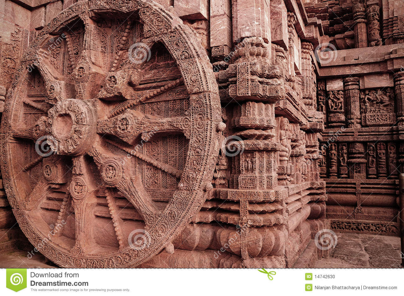 ancient indian architecture at konark stock photo image of site