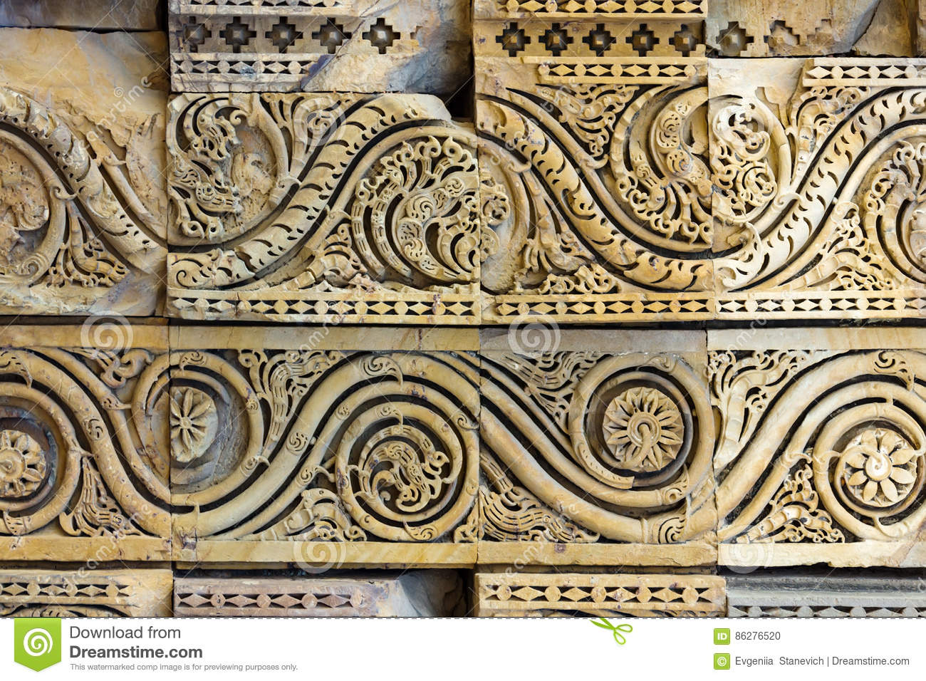 Ancient indian bas-relief