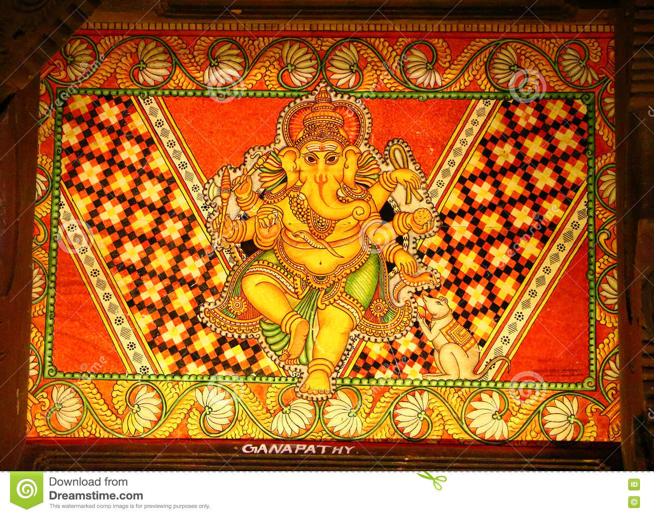 Ancient Indian Paintings  Folklore Museum Stock Photo - Image of