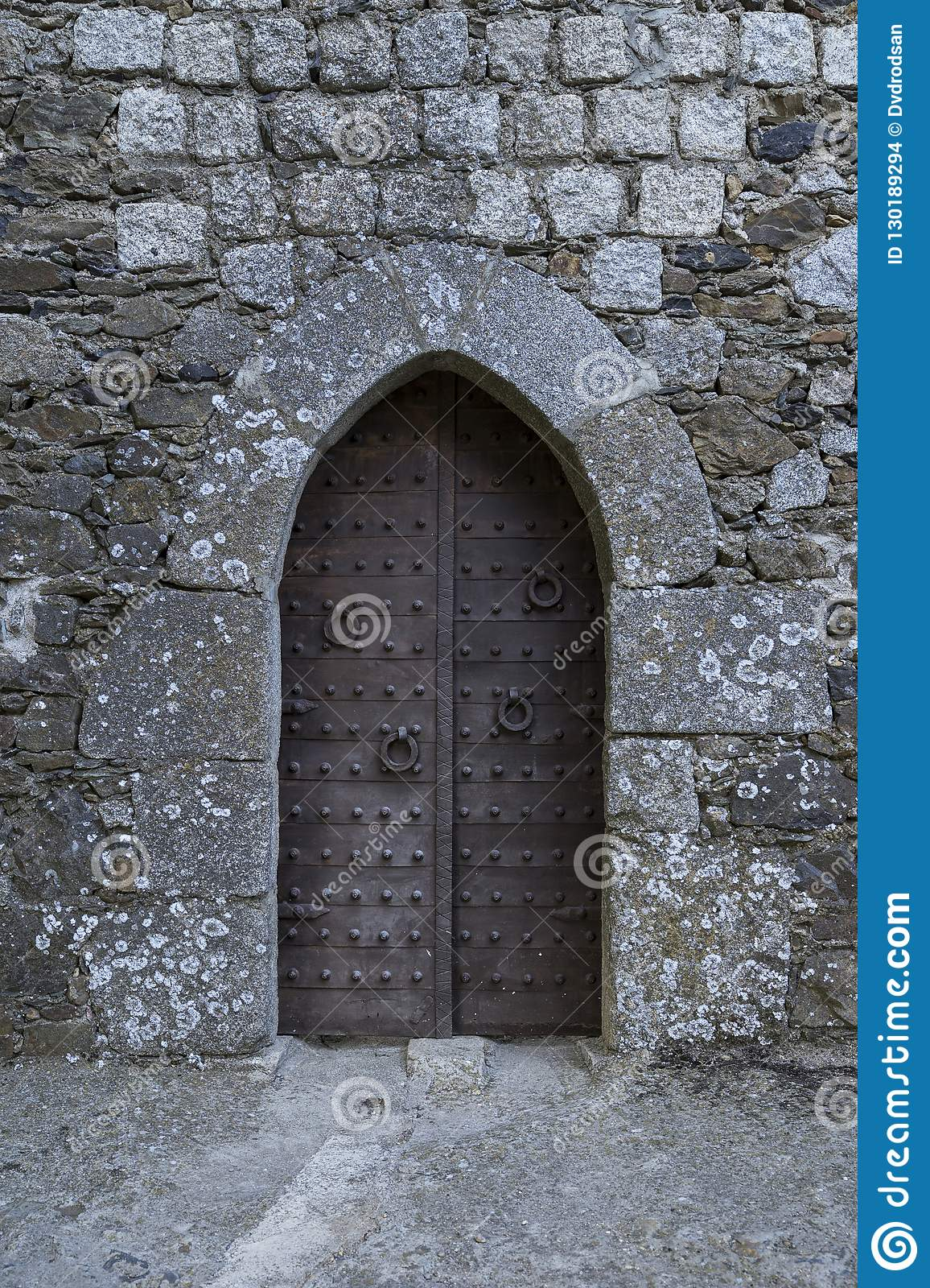 Ancient iron gates of a medieval castle