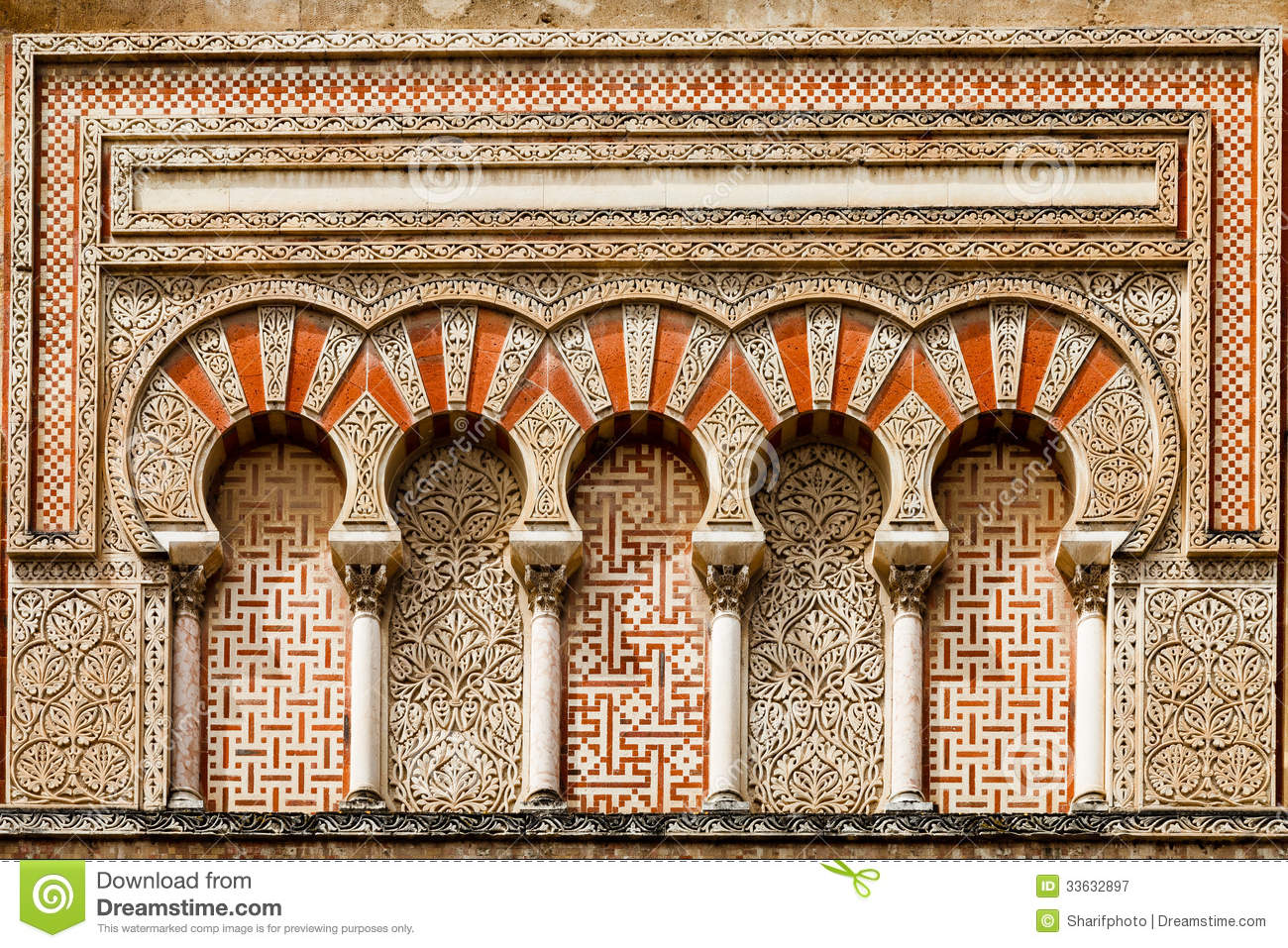 Ancient islamic building decoration royalty free stock for Ancient decoration