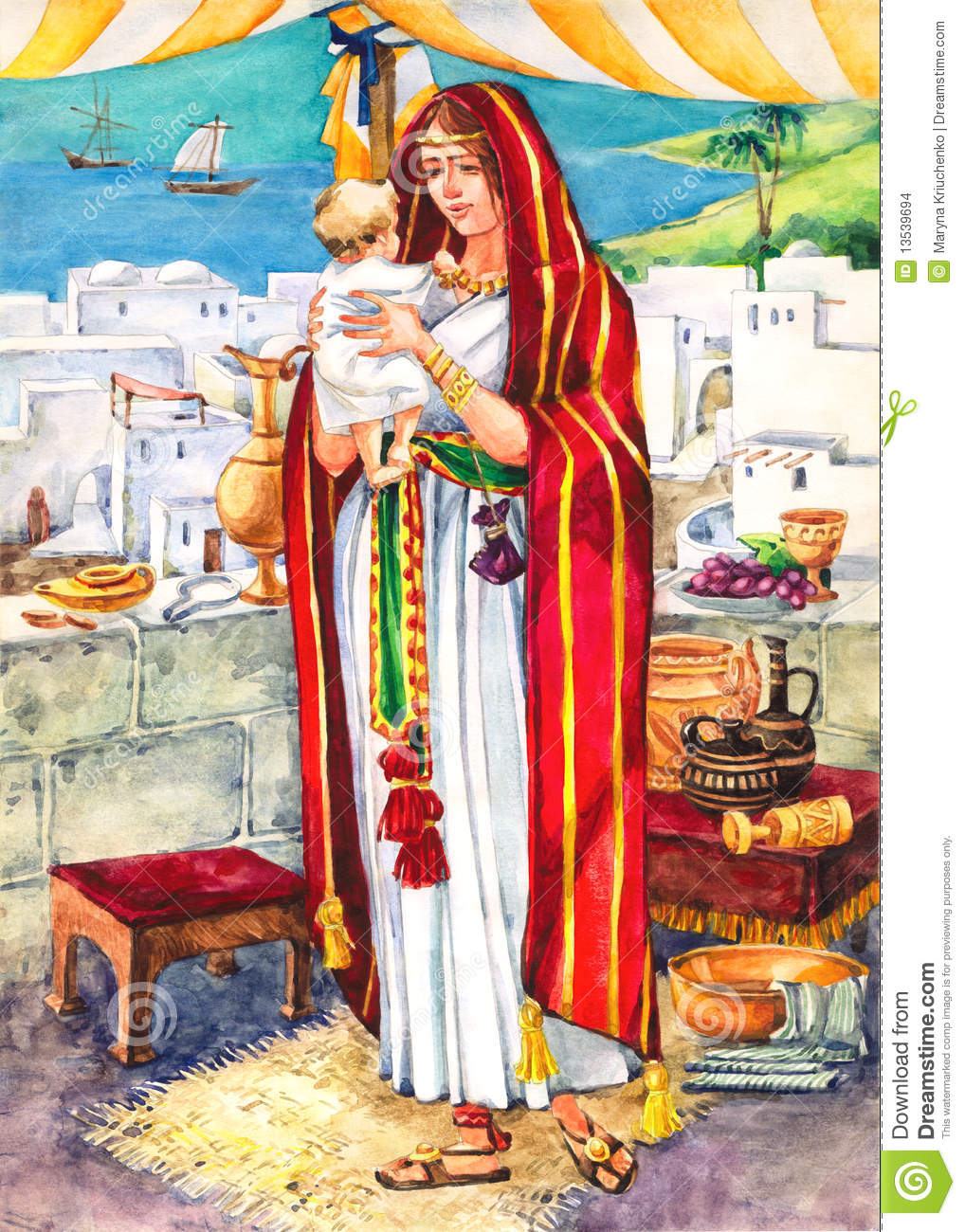Ancient Israel Mother Stock Illustration Image Of Arch