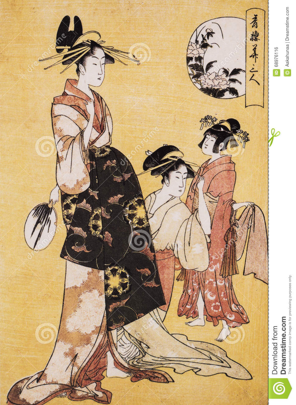 Ancient Japanese Traditional Dress Stock Photo Image Of Design Traditional 68976116