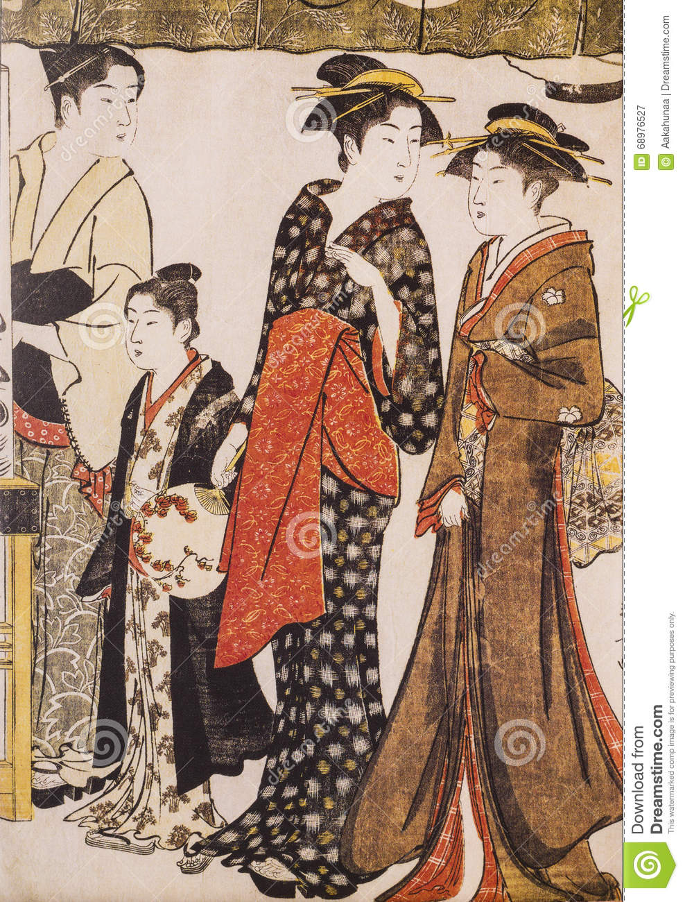Ancient Japanese Traditional Dress Stock Image Image 68976527