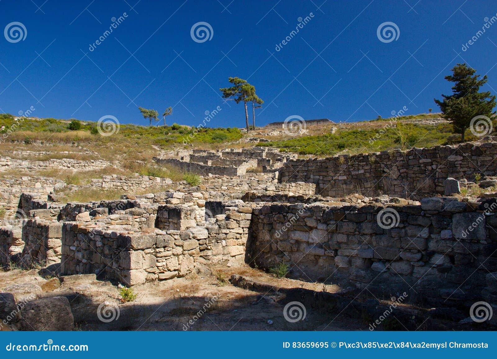 Ancient Kamiros Rhodos Greece architecture historic