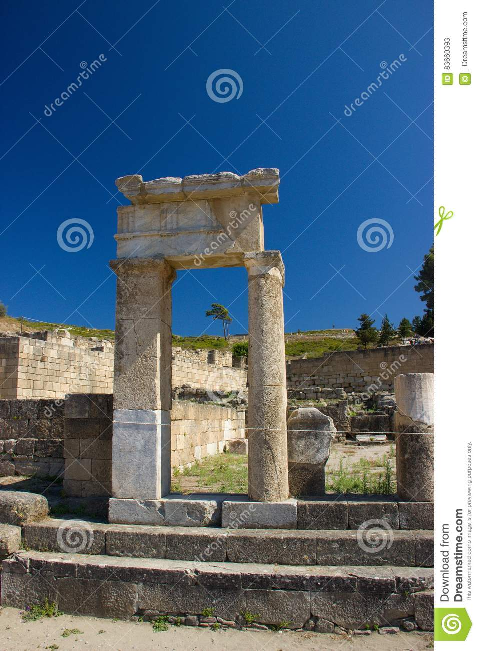 Ancient Kamiros Rhodos Greece architecture historic