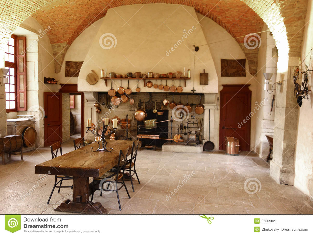 The Ancient Kitchen at Chateau de Pommard winery.