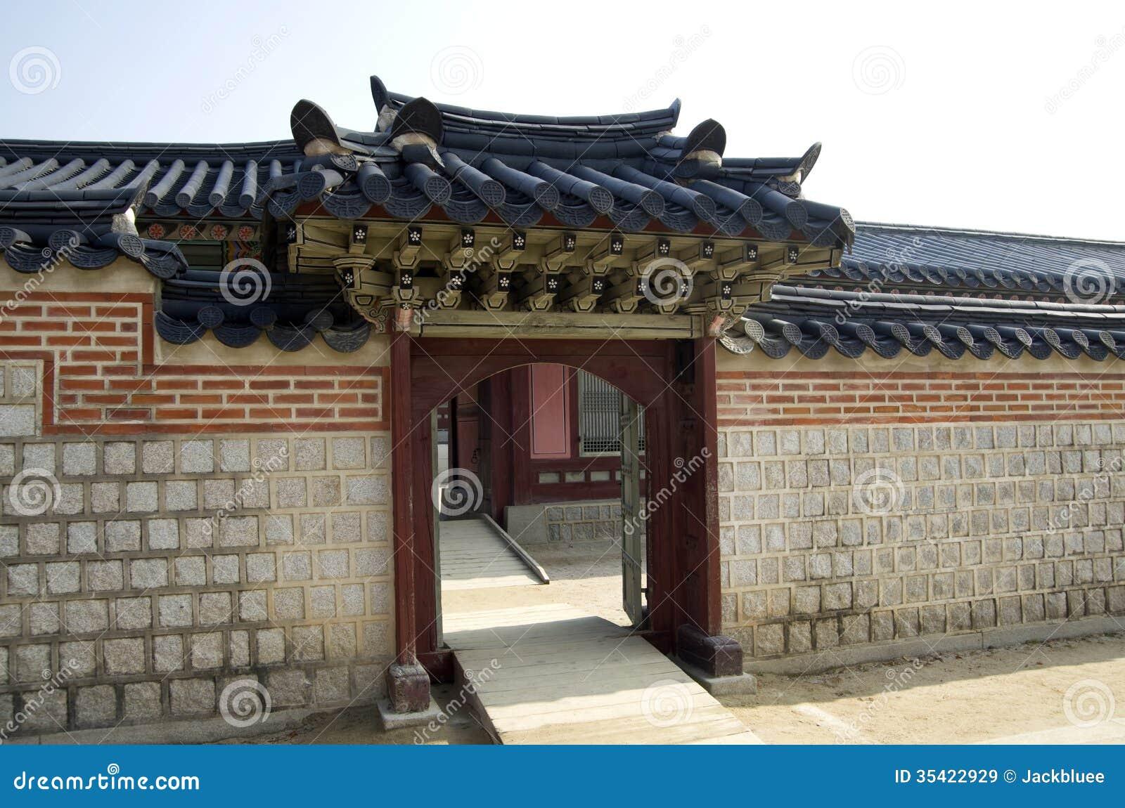 Ancient Korean Architecture Stock Image