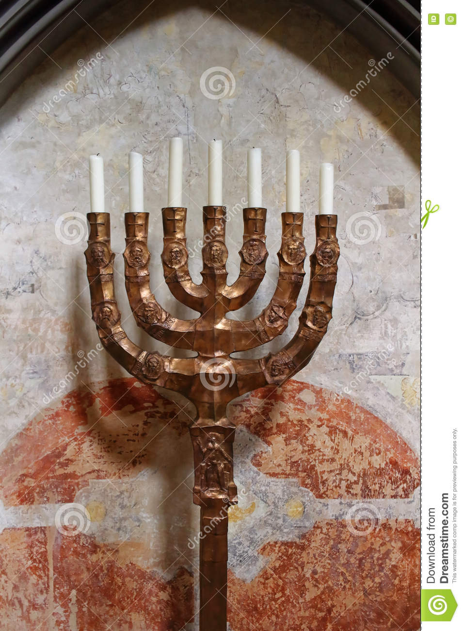 Ancient lamp stand Menorah stock photo. Image of menorah - 75535028 for Ancient Lampstand  lp4eri