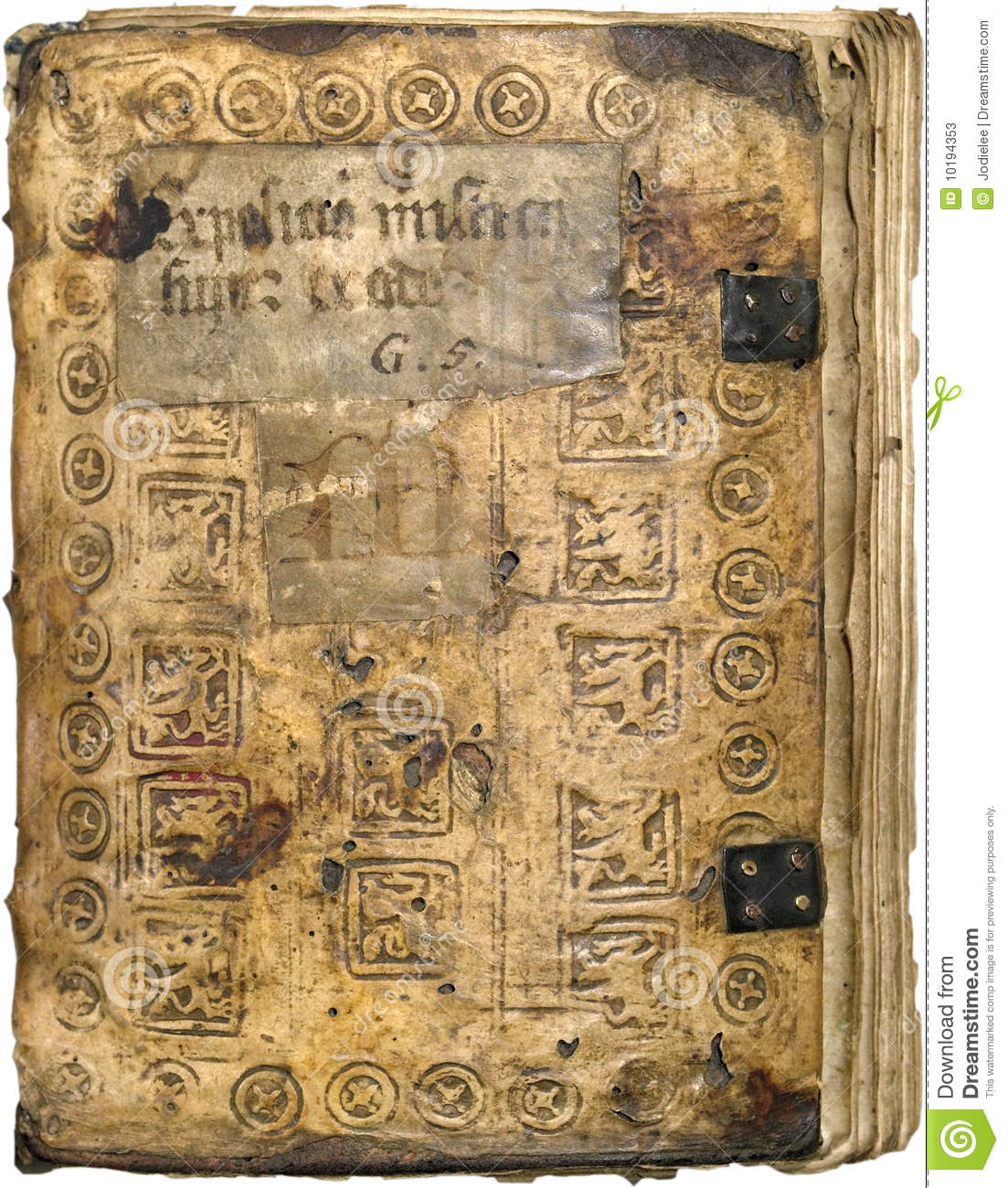 Ancient leather book