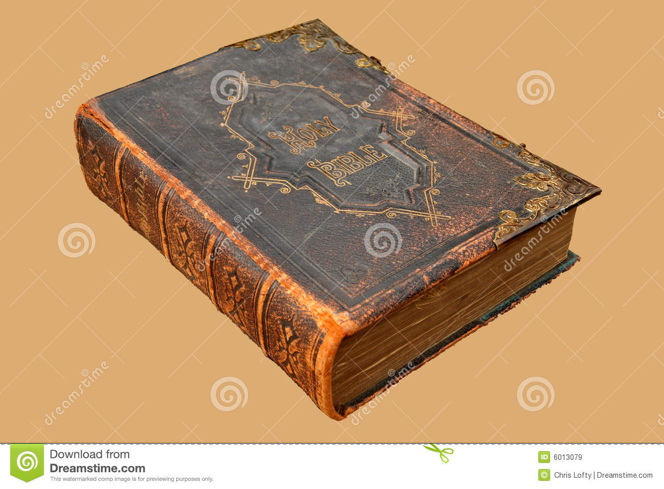 Vintage Leather Look Jeremiah Verse Bible Book Cover Large: Ancient Leather Bound Holy Bible Stock Image