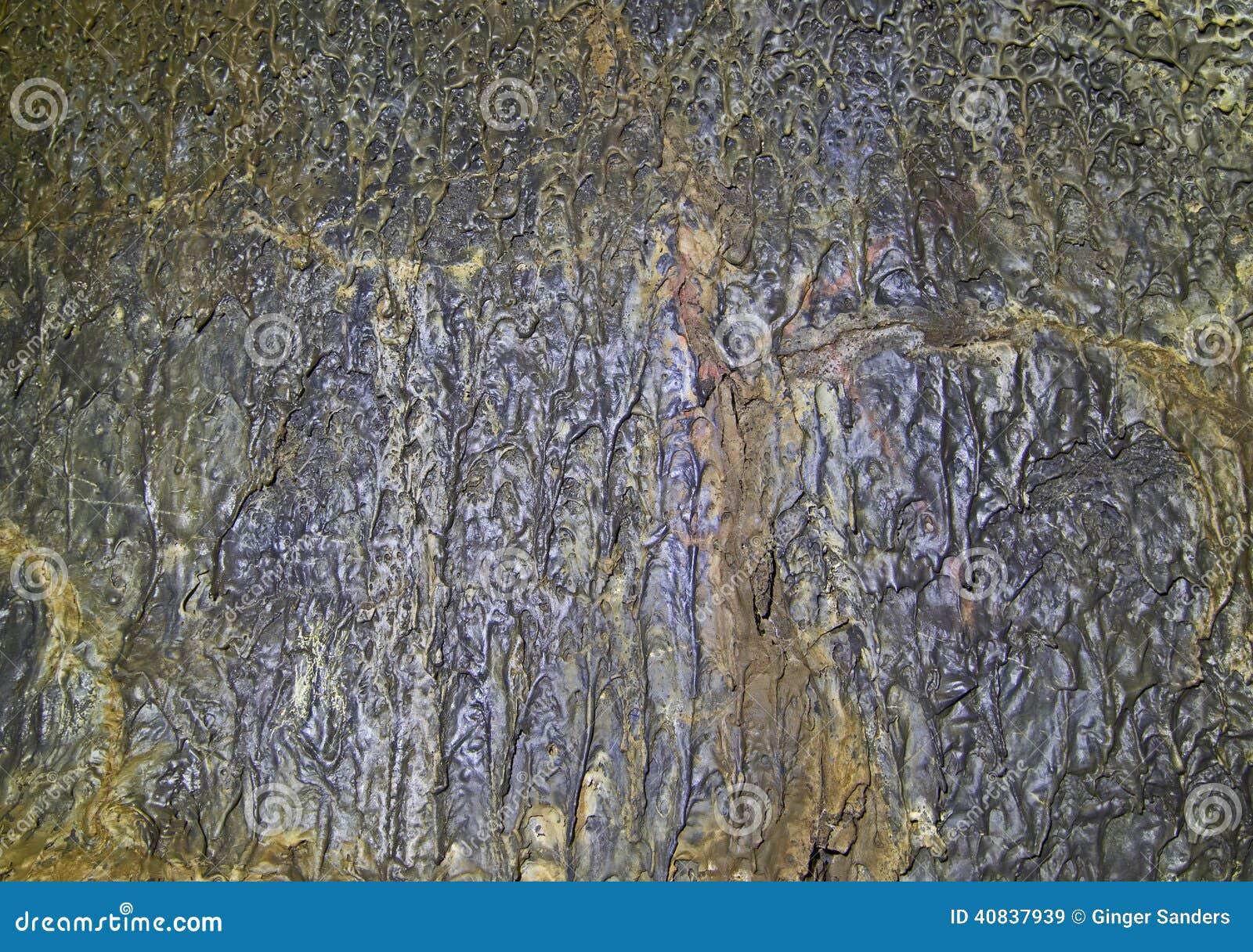 Ancient Liquid Lava Rock Cave Flow Background Texture ...