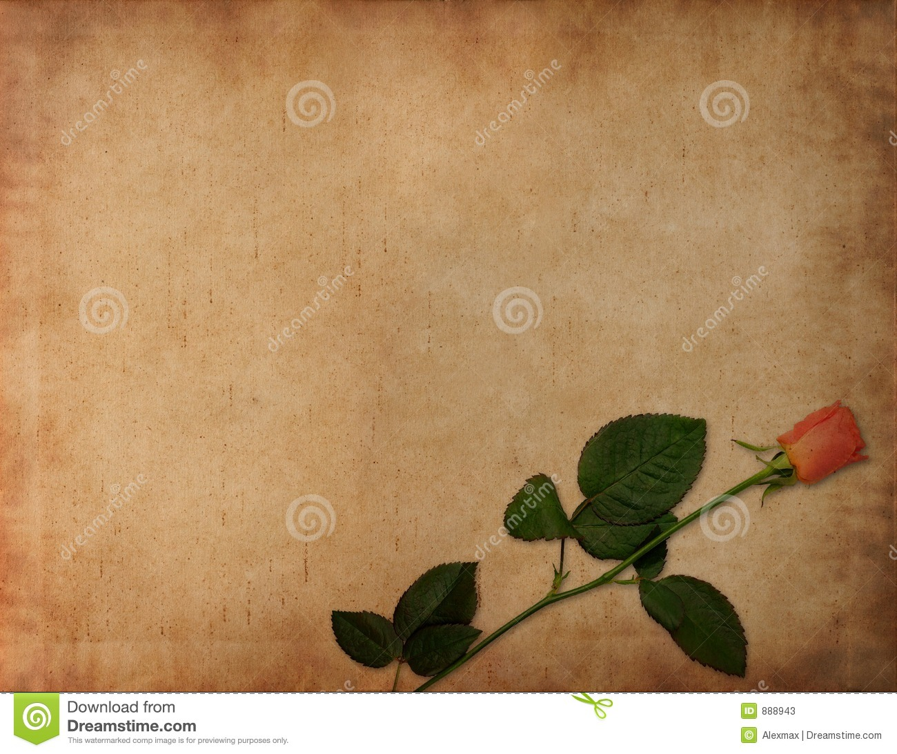 Ancient Love Letter Background Stock Image Image Of Flower Edges