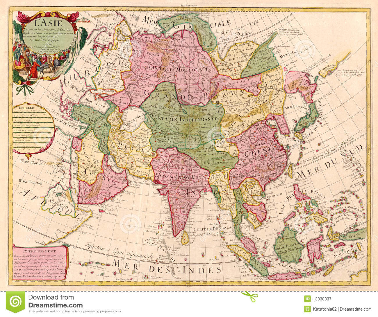 Geography Map Of Asia.Ancient Map Of Asia Stock Illustration Illustration Of Geography