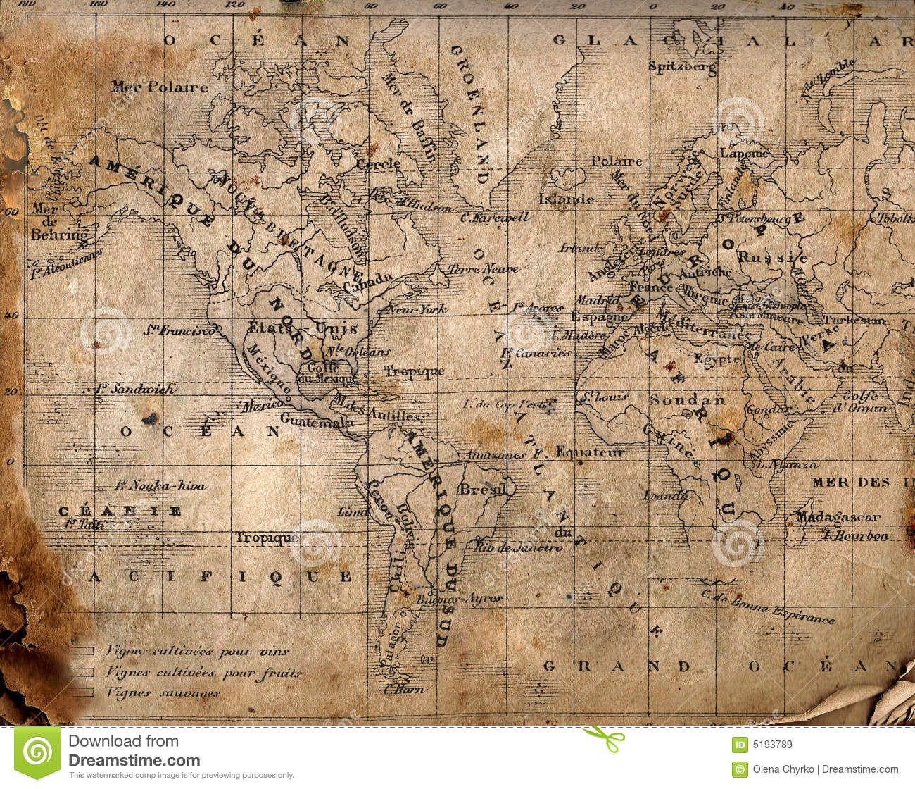 Ancient Map Of The World Stock Image Image Of Ancient 5193789