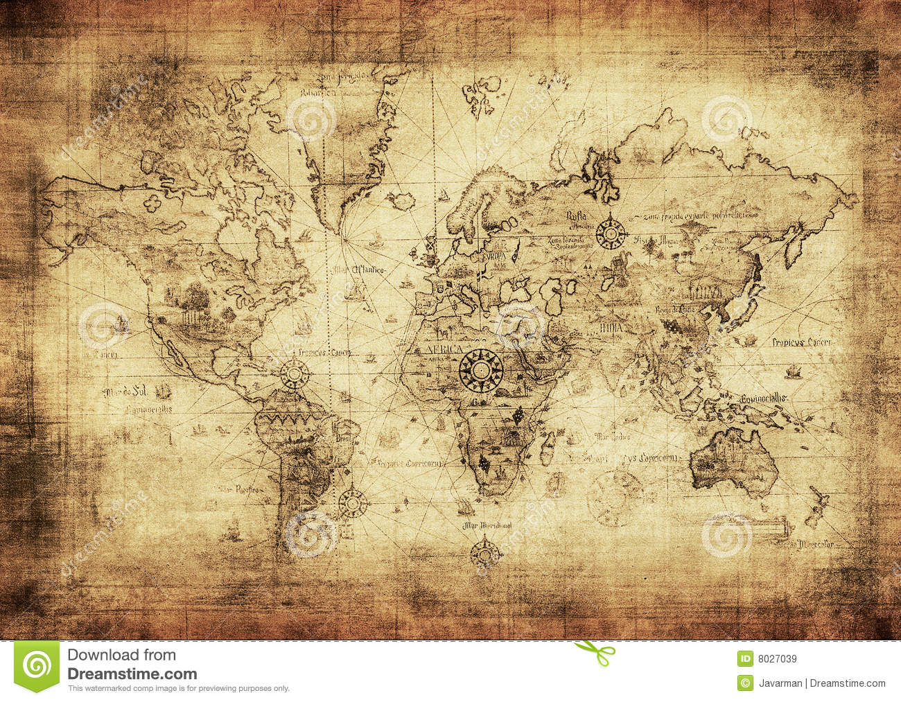 ancient map of the world stock image image of africa. Black Bedroom Furniture Sets. Home Design Ideas