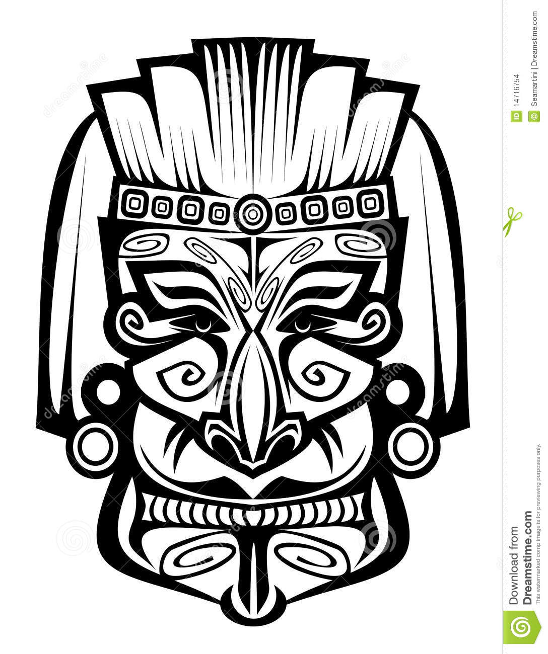 Ancient Mask Stock Vector Illustration Of Black Brown