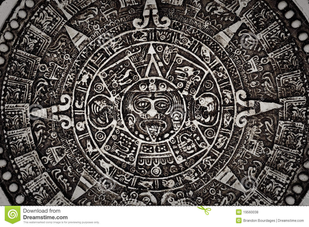 ancient mayan calendar stock photo image of characters