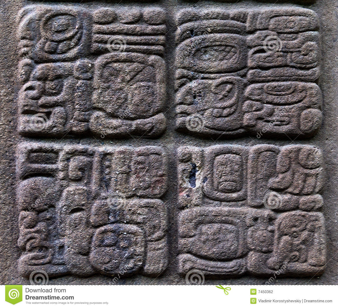 Ancient Mayan glyphs stock photo Image of carved attraction