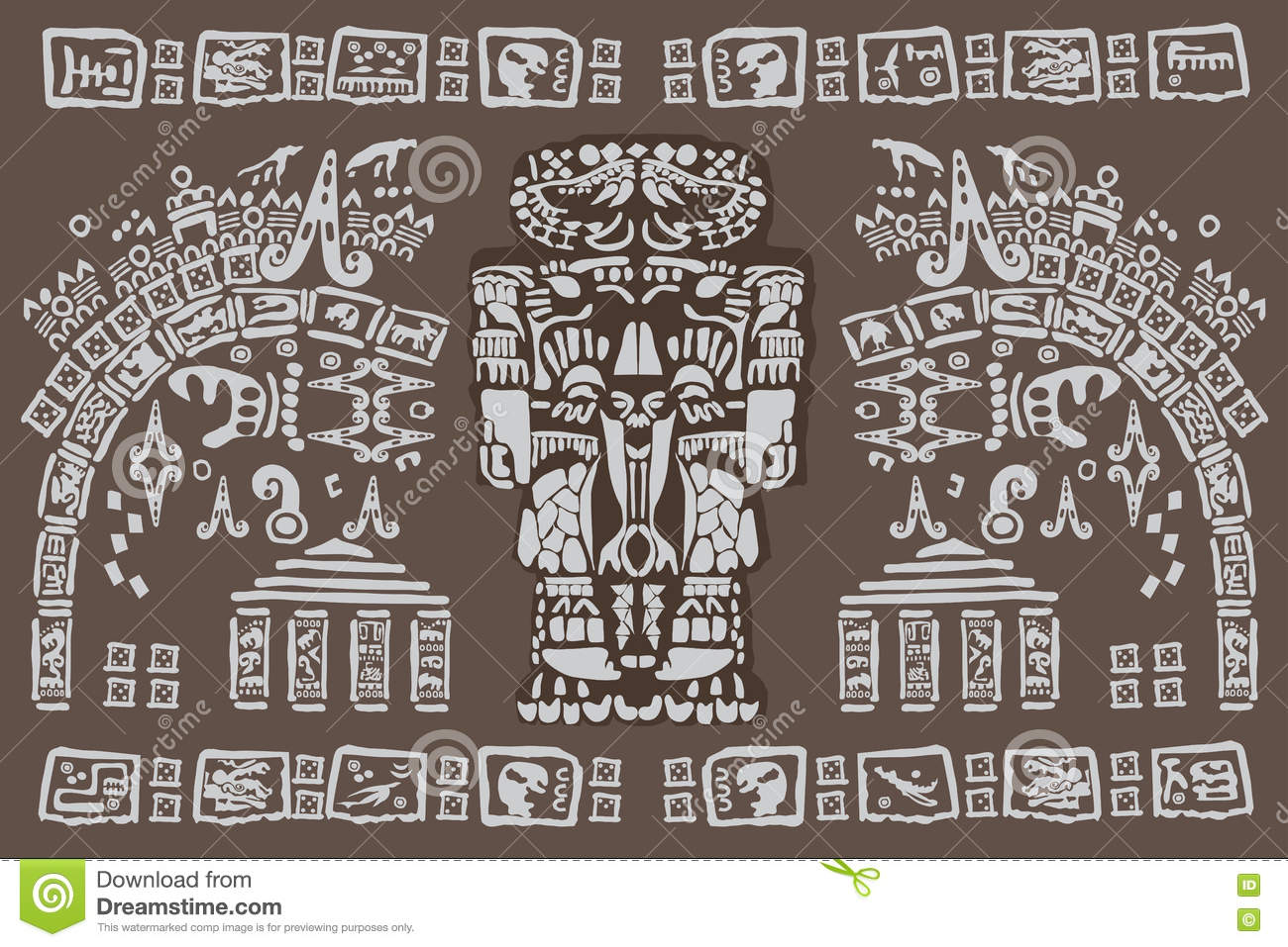 Ancient Mayan Symbols Stock Photo Image Of Cultural 78580704