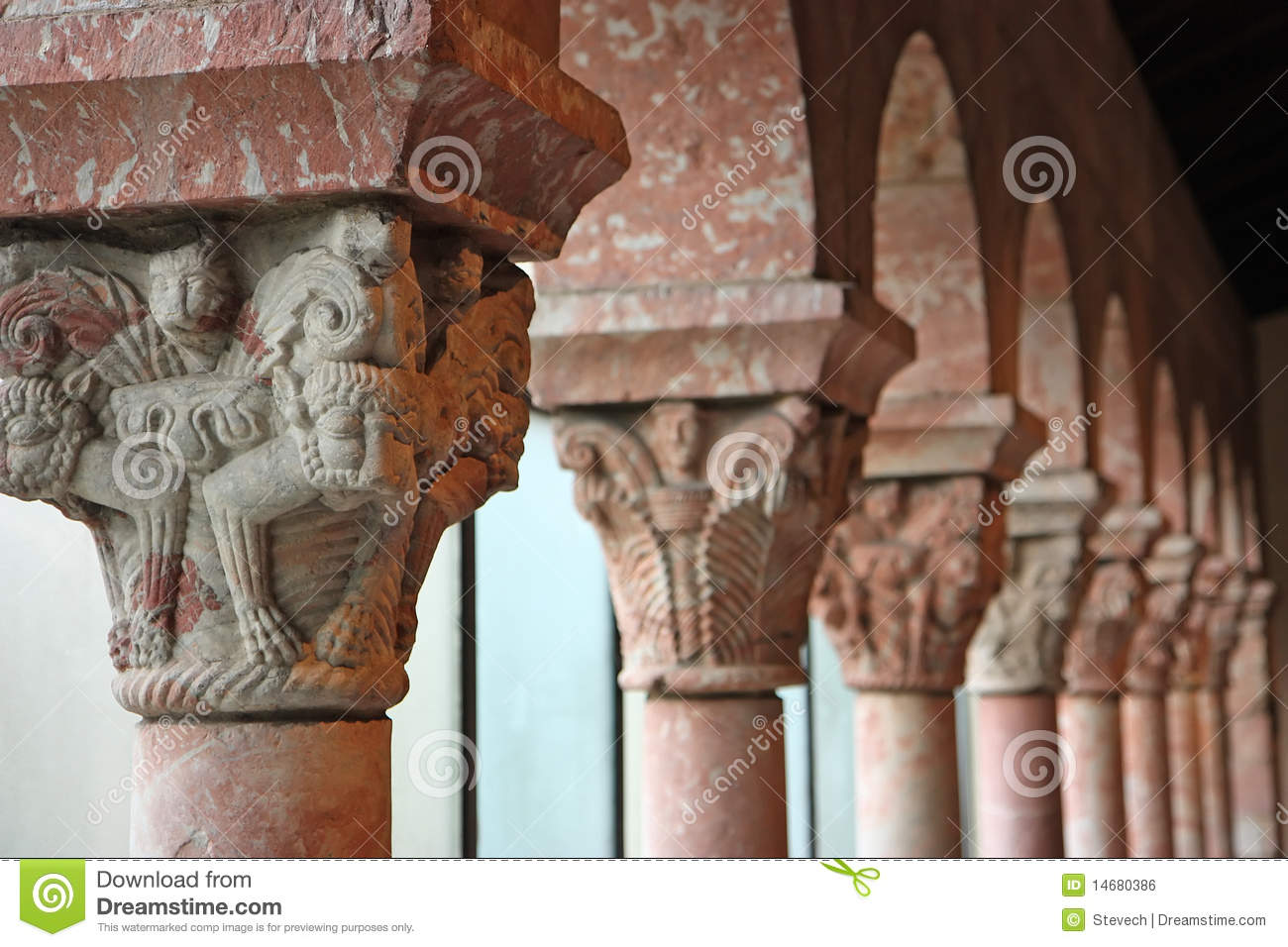 Ancient Medieval Columns Stock Photo Image Of