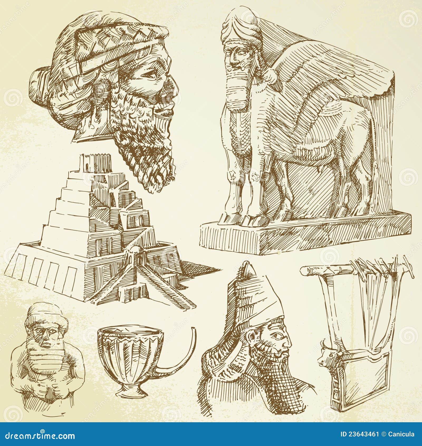 Ancient Mesopotamian Art Stock Image Image 23643461