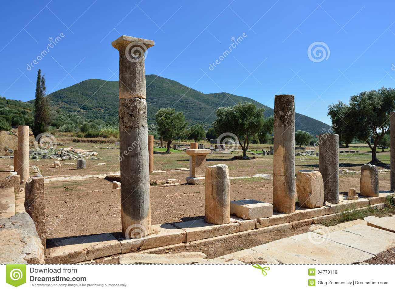 Ancient Messini Royalty Free Stock Photos - Image: 34778118