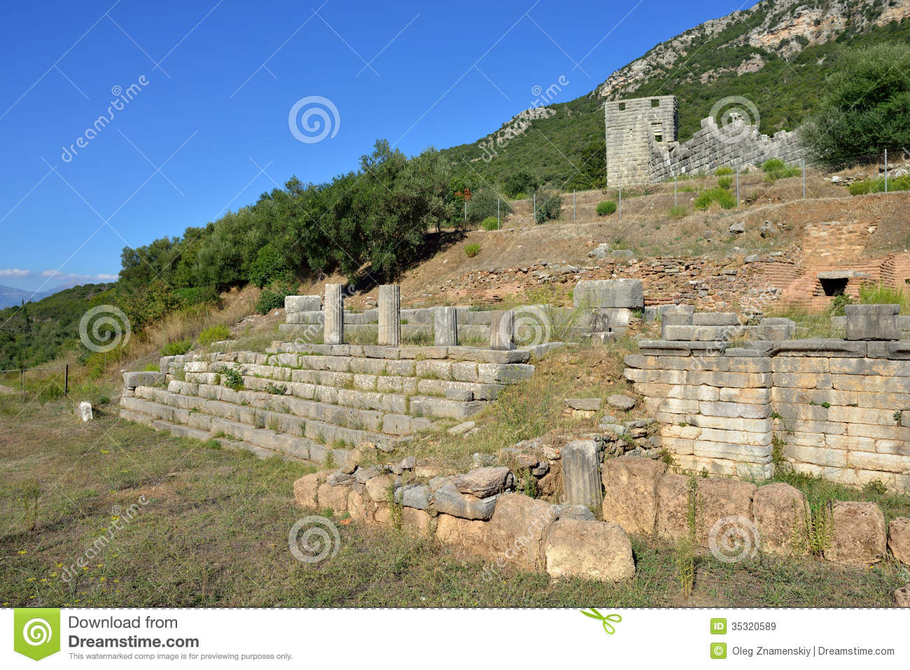 Ancient Messini Royalty Free Stock Images - Image: 35320589