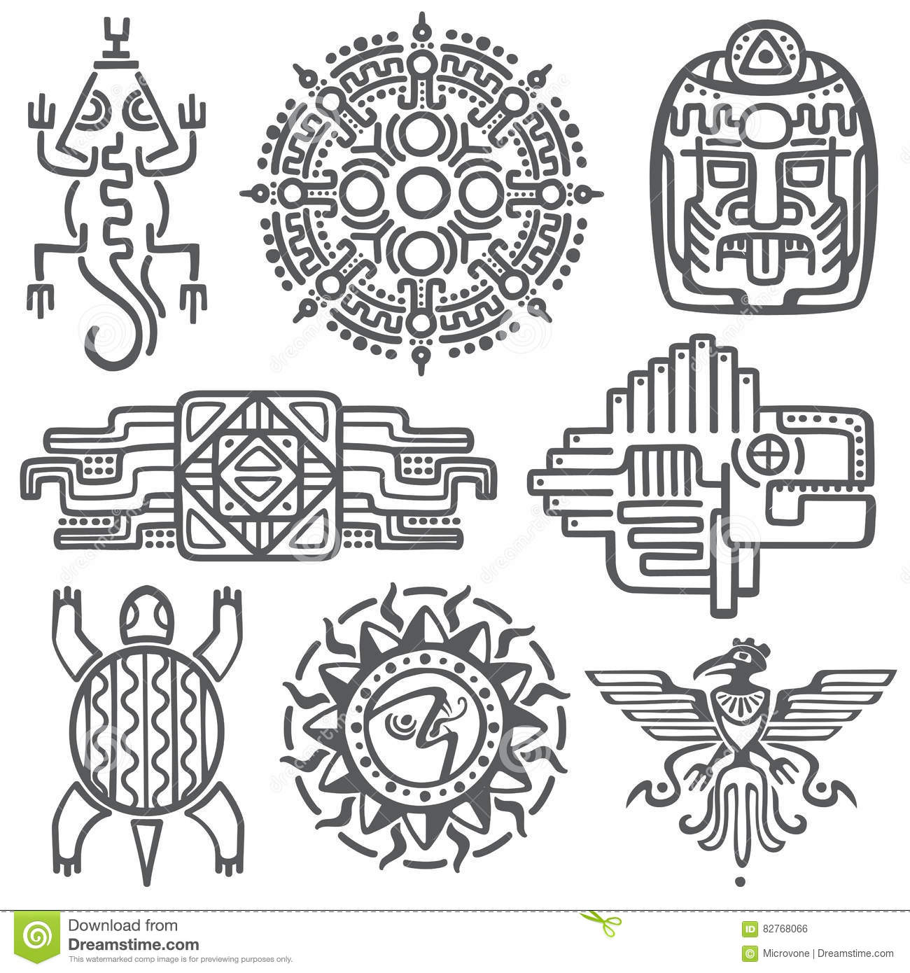 Culture stock illustrations 415267 culture stock illustrations ancient mexican vector mythology symbols american aztec mayan culture native totem patterns aztec buycottarizona Image collections