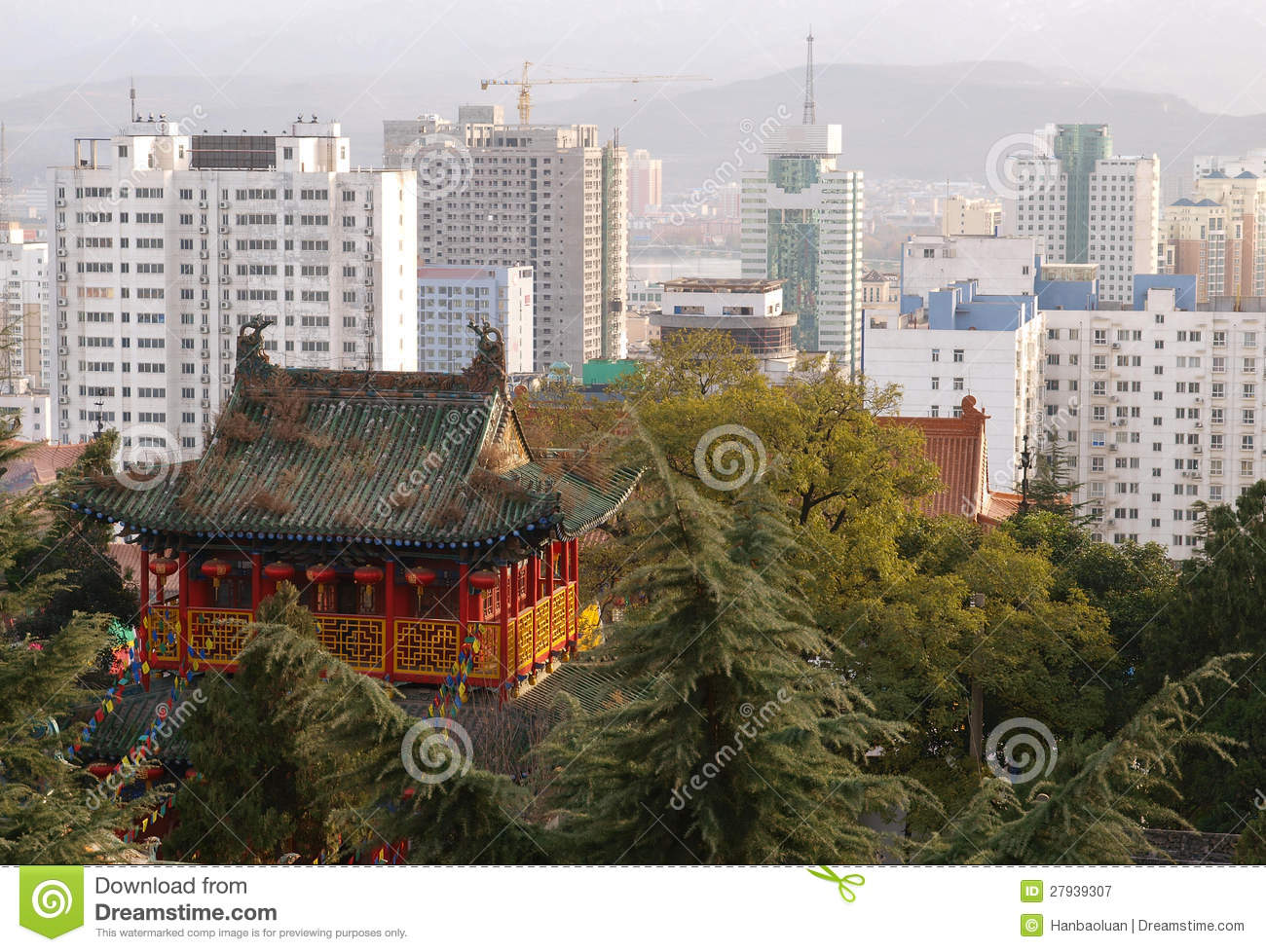 The Ancient And Modern Architecture Stock Image Image