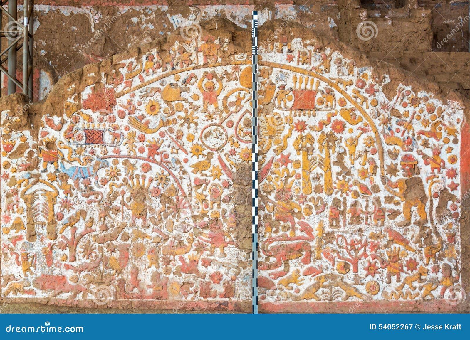 Ancient mural in peru stock photo image 54052267 for Mural la misma luna