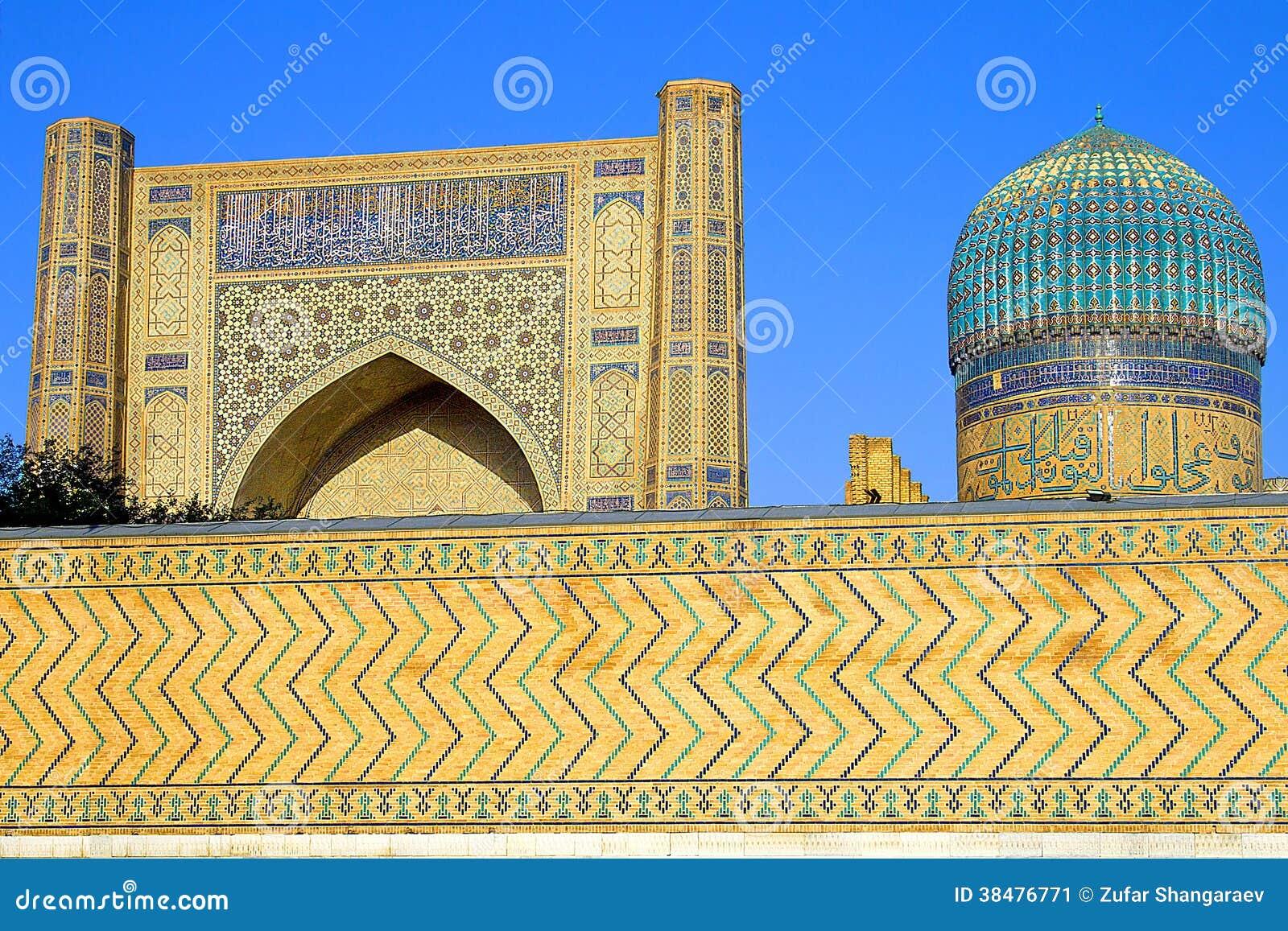 ancient muslim architectural complex bibichanum in