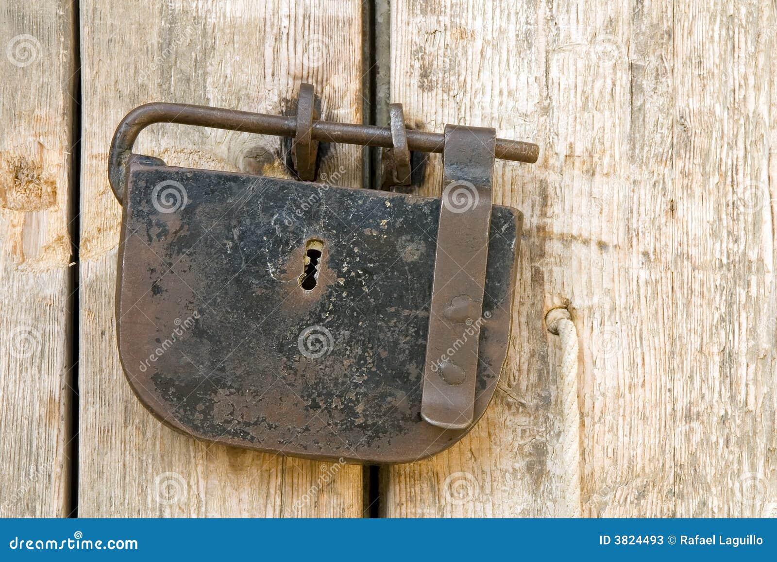 Download Ancient padlock stock image. Image of cord, string, keyhole - 3824493