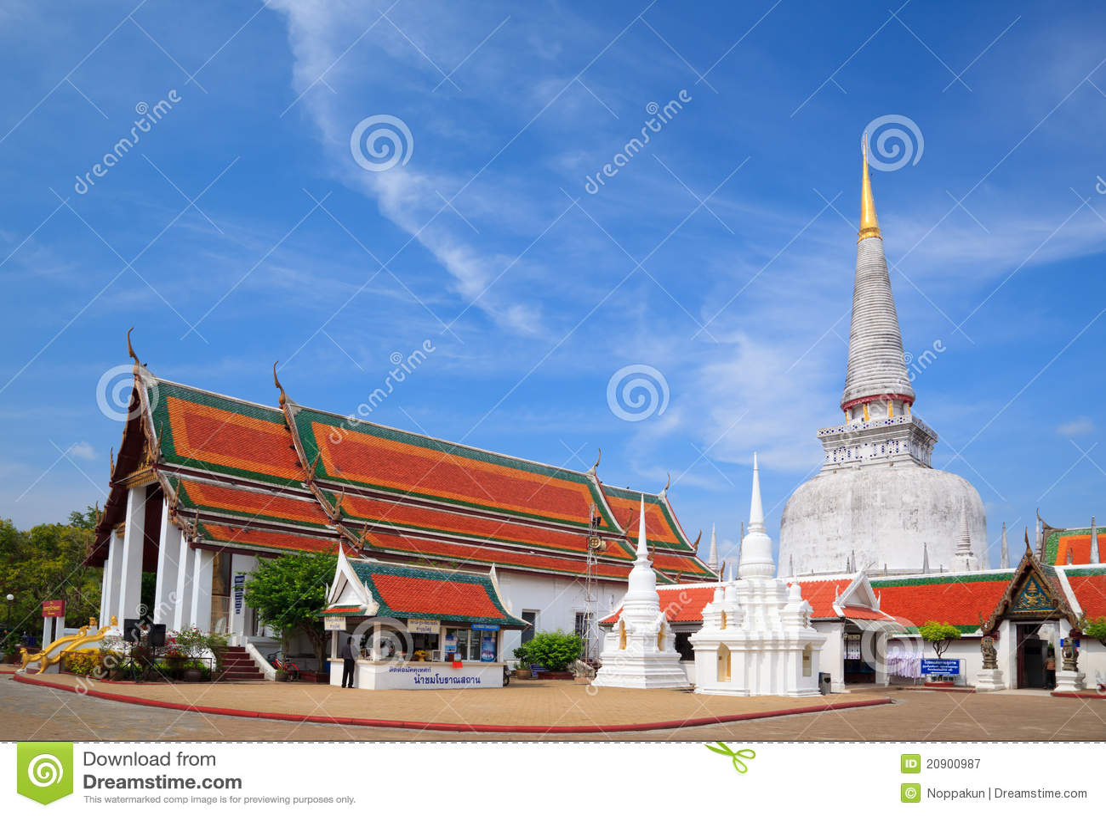 Ancient Pagoda   Nakhon Si Thammarat  Thailand Stock Image