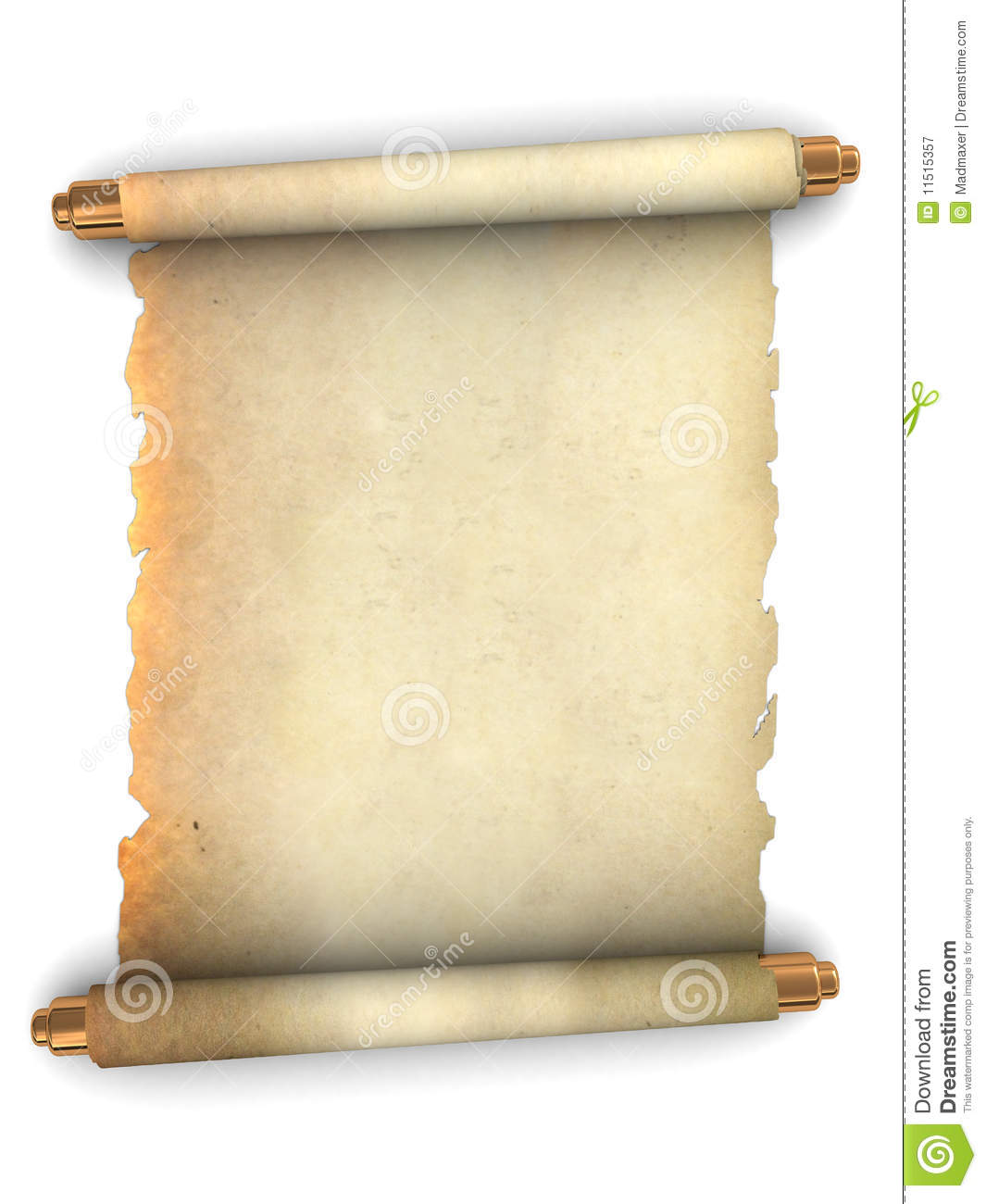 Ancient Scroll: Ancient Paper Scroll Royalty Free Stock Photography