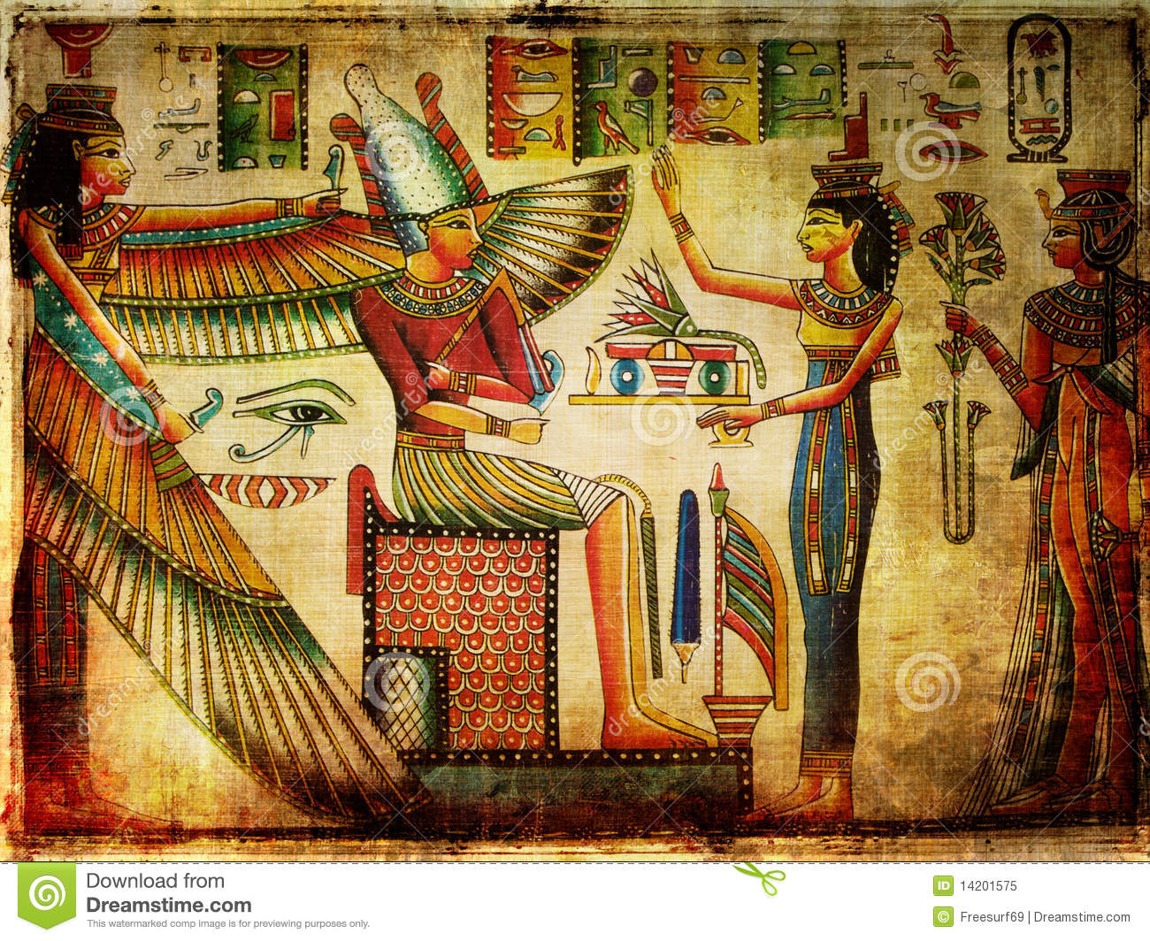 Ancient Papyrus Royalty Free Stock Photo Image 14201575
