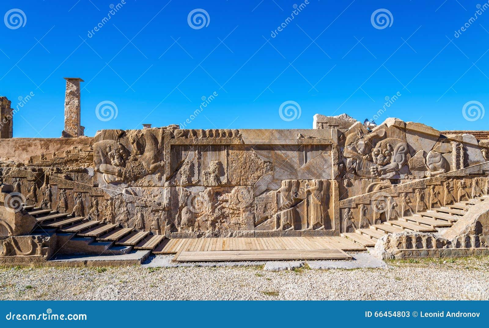 Ancient persian carving in persepolis stock image