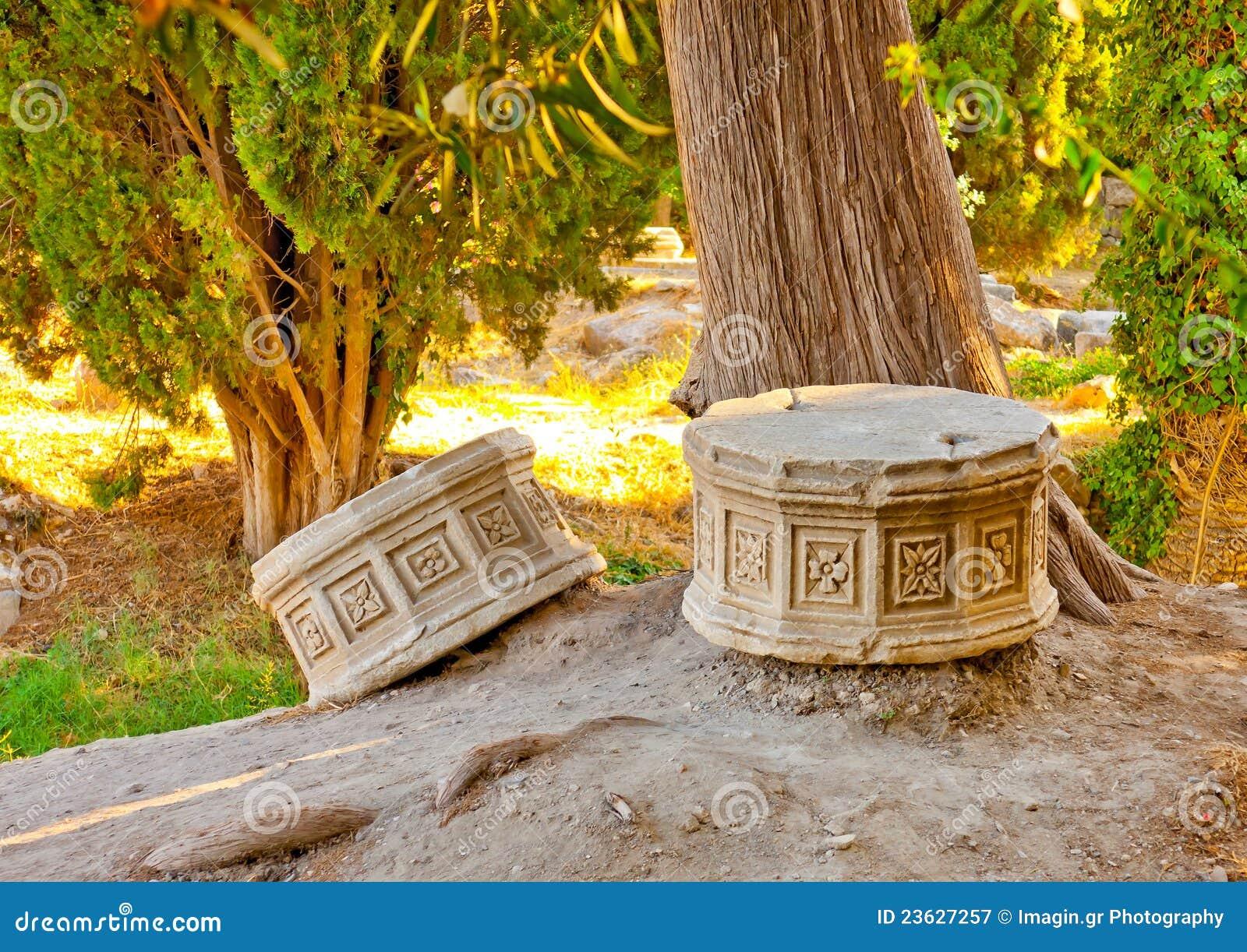 Marble Temple Home Decoration Ancient Roman Flower Relief Stock Photo Cartoondealer