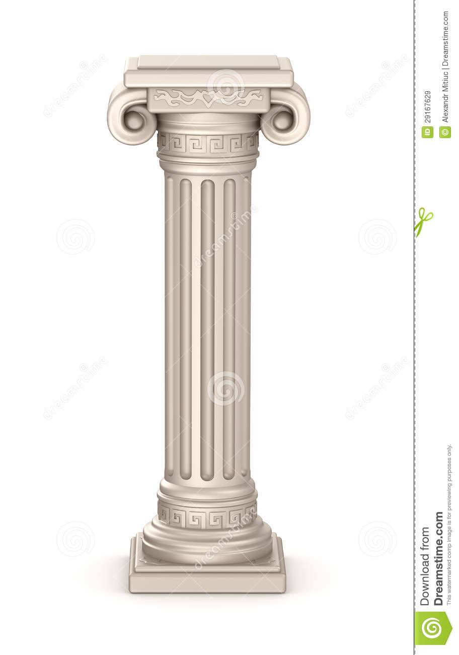 Ancient Pillar Stock Illustration Illustration Of