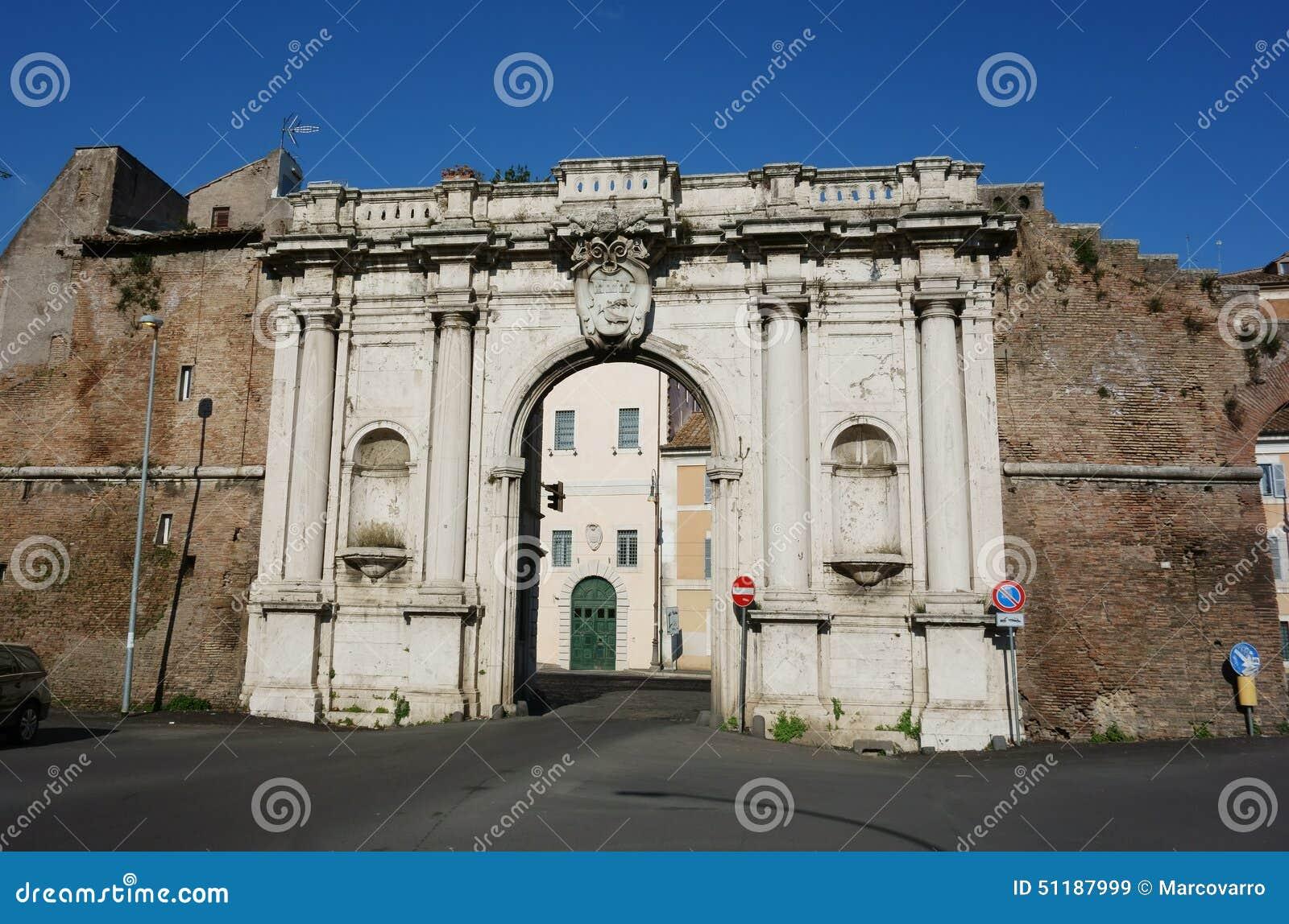 Ancient porta portese gate in rome stock photo image - Porta portese 2 ...