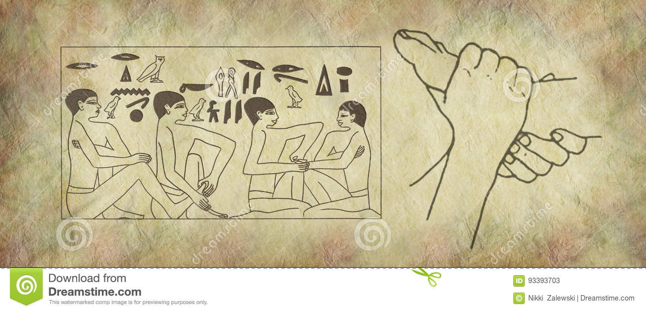 The Ancient Practise Of Reflexology Wall Art Stock Illustration ...