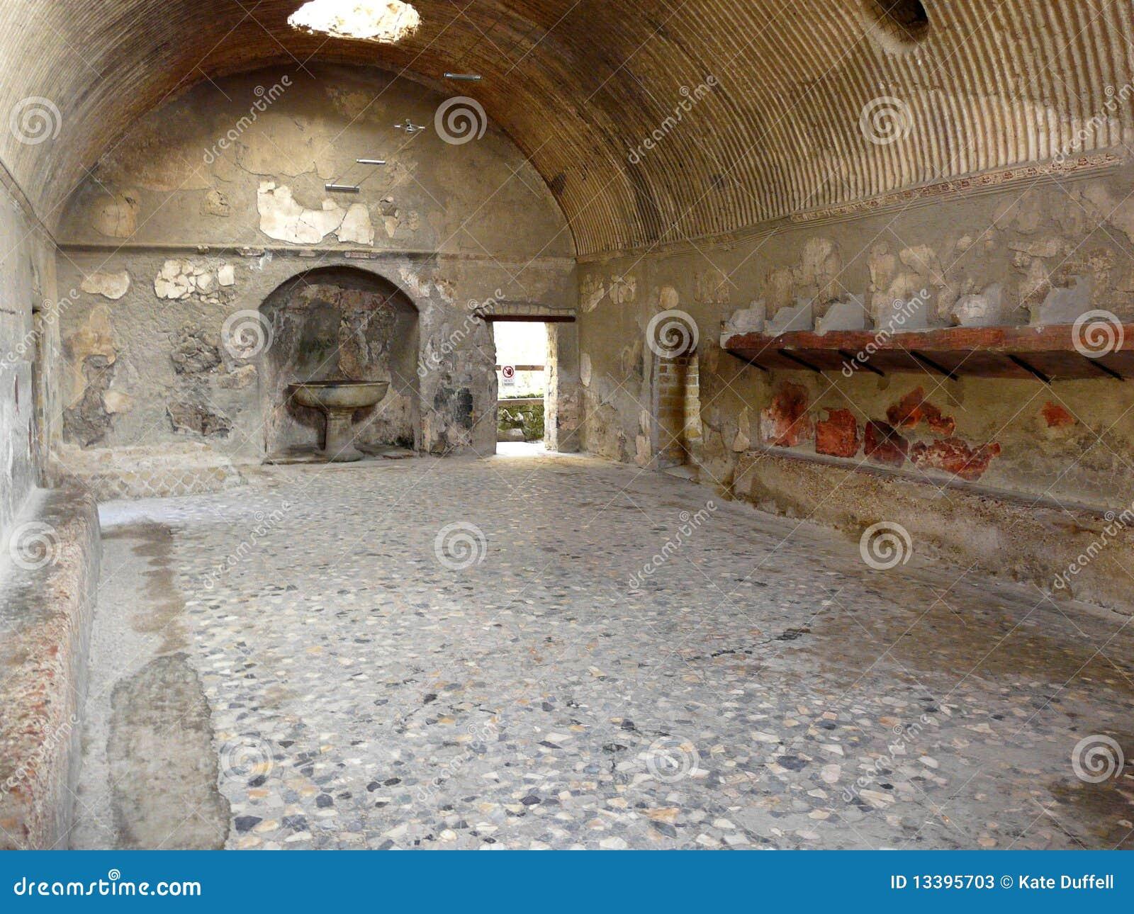Ancient Public Baths At The Ancient Roman C Stock Image