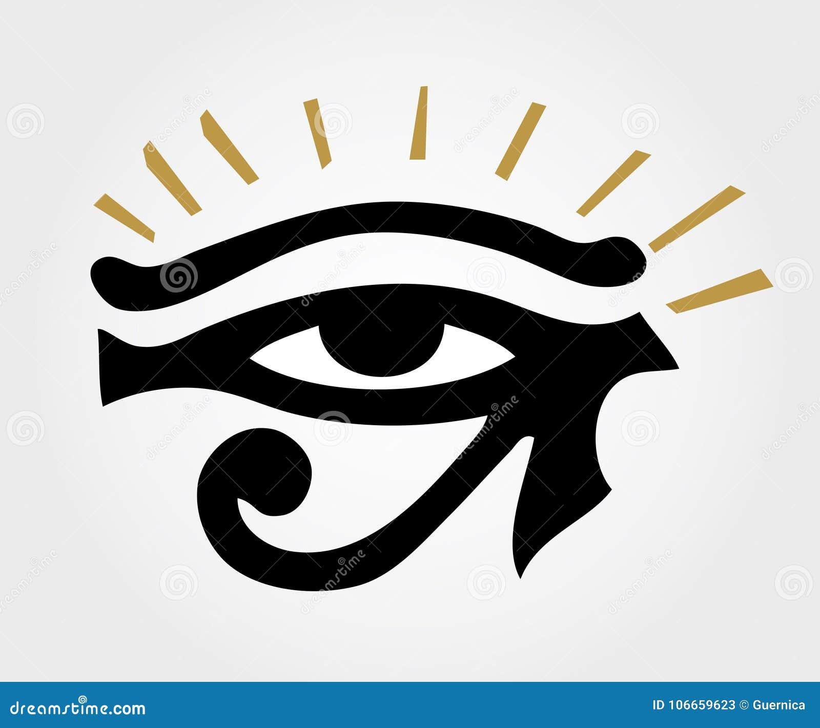 eye of horus ancient ra eye with sun rays stock vector rh dreamstime com Sunshine Vector Free Free Vector Silhouettes
