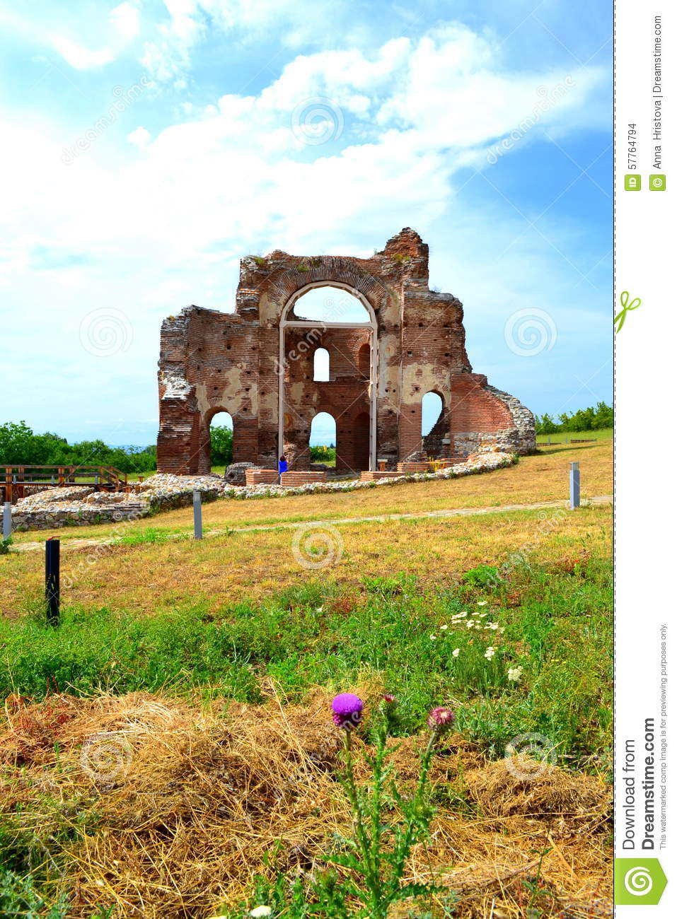 Ancient Red church ruins