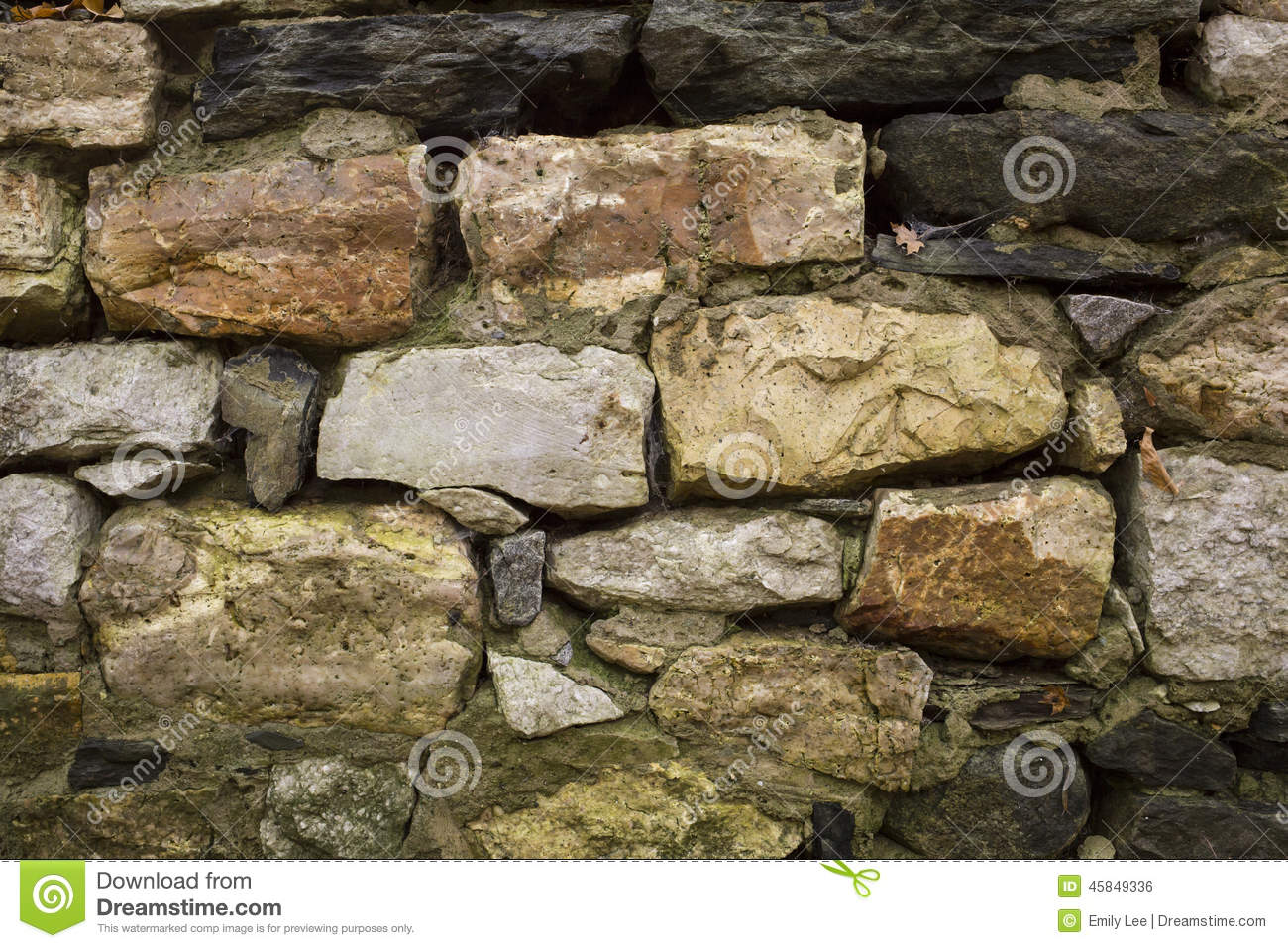 Granite Stone Foundation : Ancient rock wall stock photo image