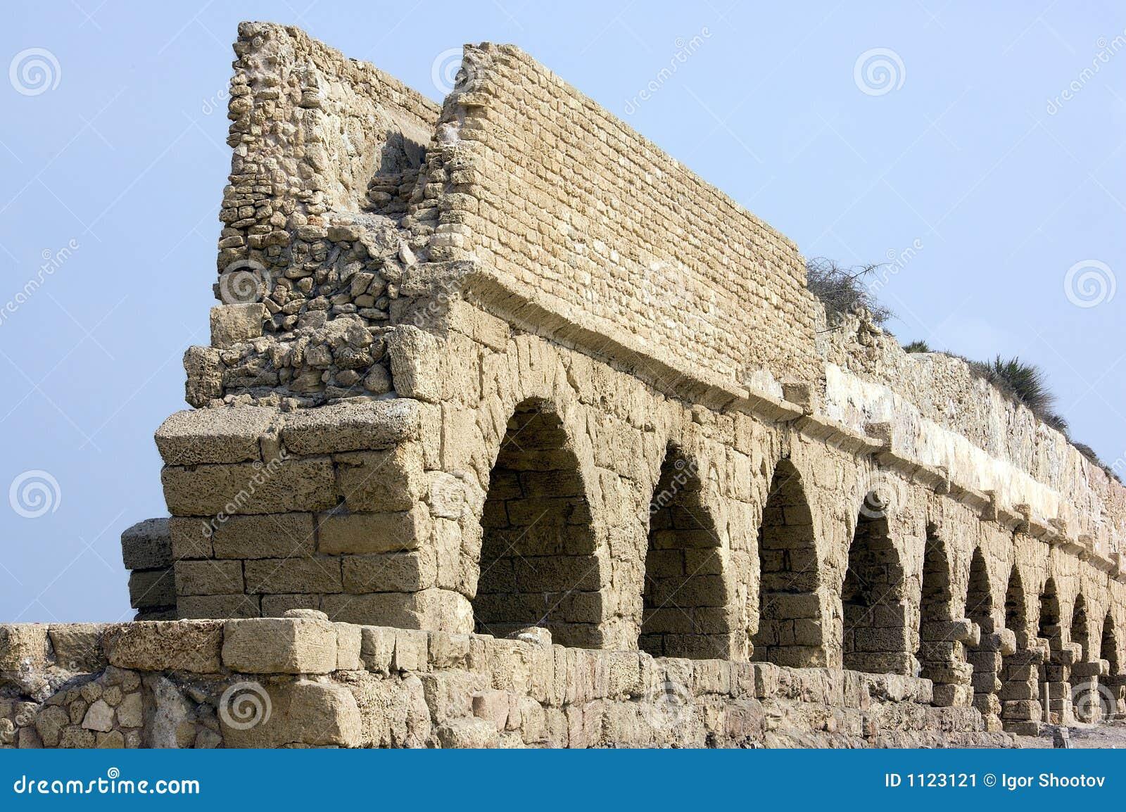 Ancient Roman Aqueduct Stock Image - Image: 1123121